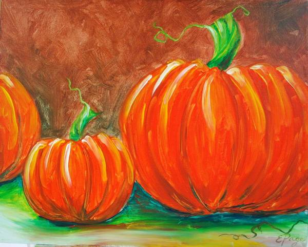 Painting - Pumpkins by Emily Page
