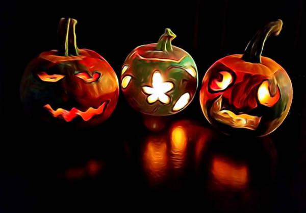 Mixed Media - Pumpkins by Pamela Walton
