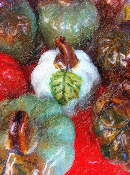 Painting - Pumpkins, Pumpkins...everywhere by Marian Palucci-Lonzetta