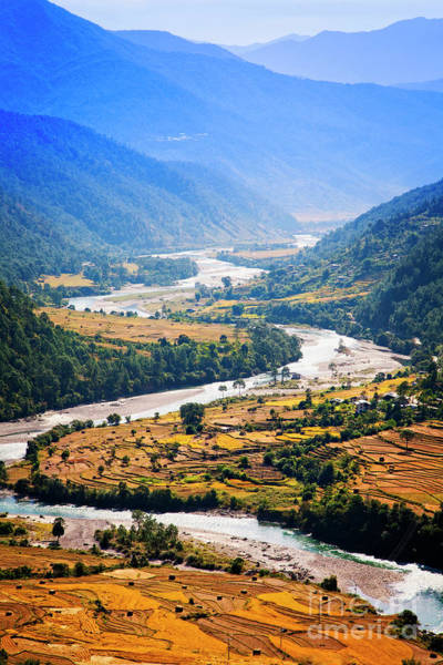 Photograph - Punakha Valley by Scott Kemper
