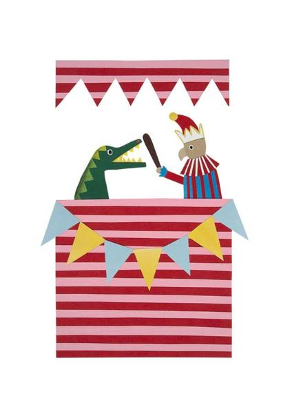 Wall Art - Drawing - Punch And Judy by Isobel Barber