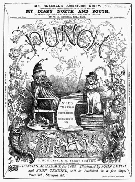 Photograph - Punch Front Page, 1862 by Granger