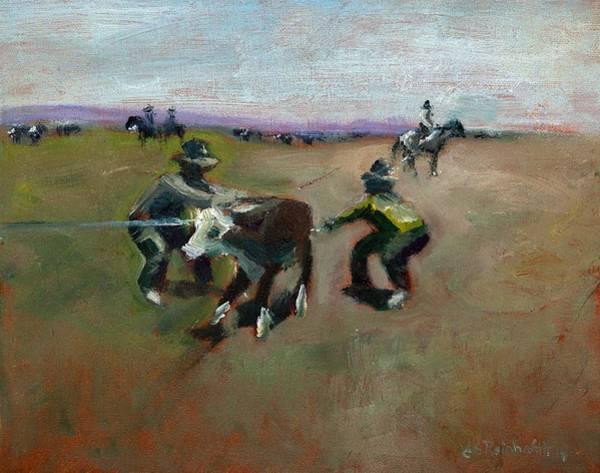 Painting - Punchin Doggies by Jason Reinhardt