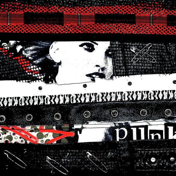 Punk Rock Digital Art - Punk Chick by Roseanne Jones
