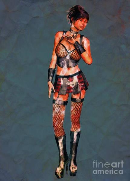 Punk Rock Digital Art - Punk Rocker Pop Art By Mary Bassett by Mary Bassett