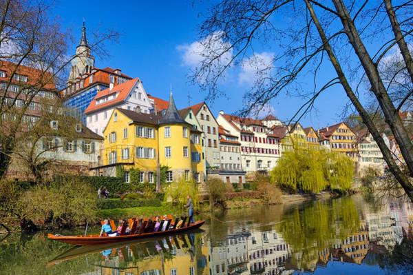 Photograph - Punt On River Neckar In Tubingen Germany by Matthias Hauser