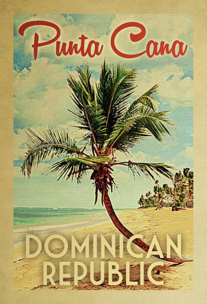 Palm Trees Digital Art - Punta Cana Dominican Republic Palm Tree by Flo Karp