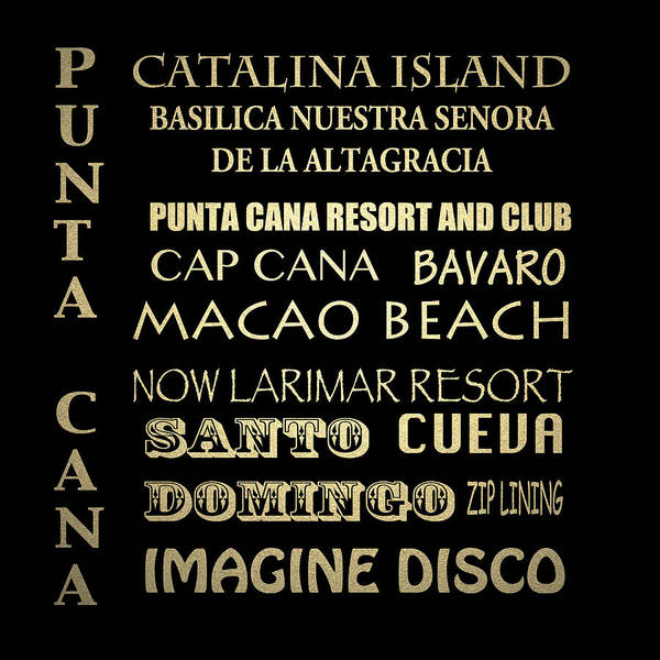 Wall Art - Digital Art - Punta Cana Famous Landmarks by Patricia Lintner