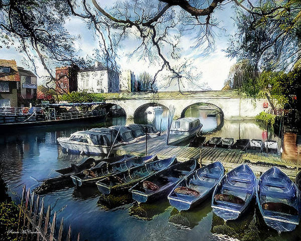 Digital Art - Punting On The Thames by Pennie McCracken