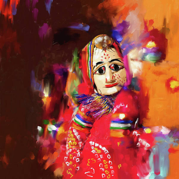 Wall Art - Painting - Puppet 435 2 by Mawra Tahreem