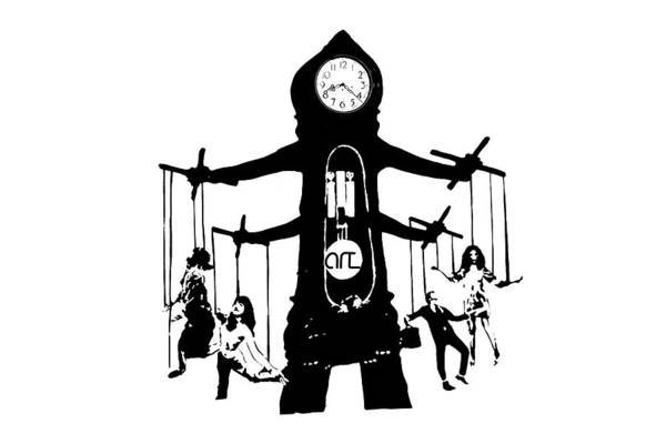 Grandfather Clock Painting - Puppet Master by Art