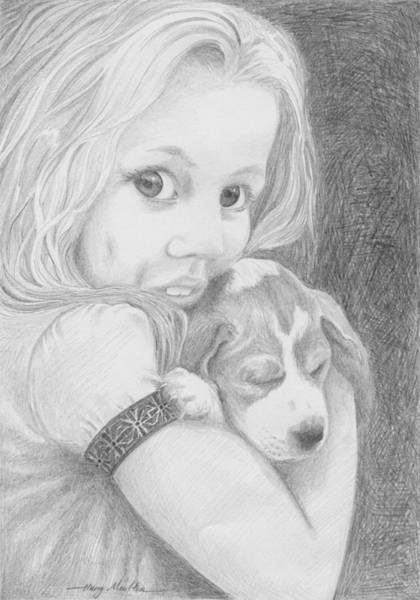 Drawing - Puppy Dog Eyes by Harry Moulton