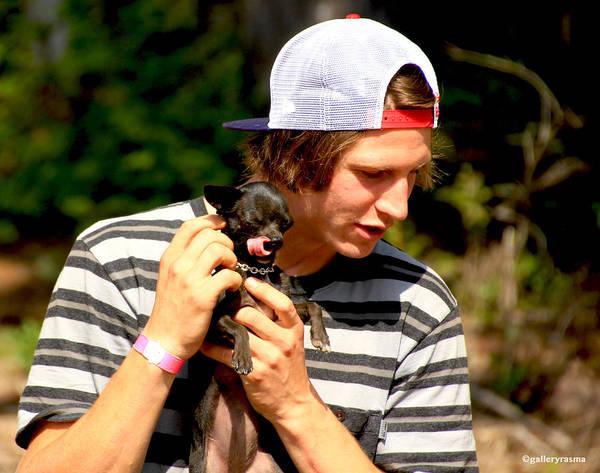 Photograph - Puppy Lick by Rasma Bertz