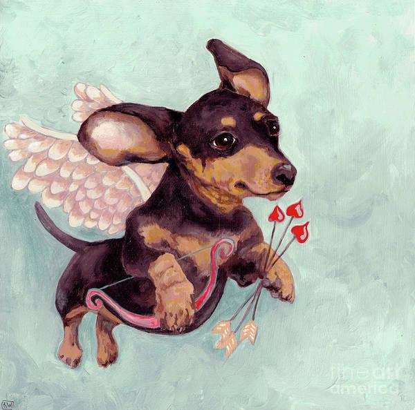 Wall Art - Painting - Puppy Love 2 by Robin Wiesneth