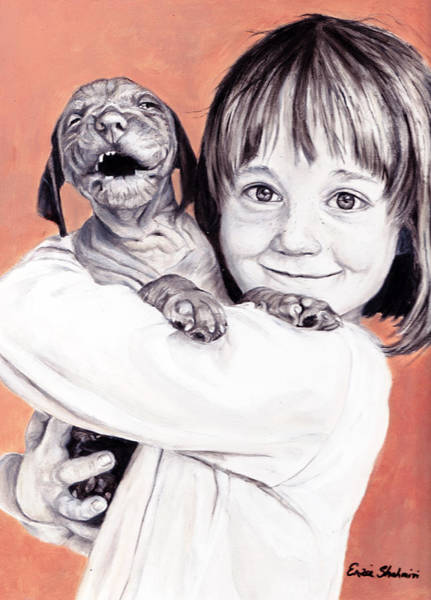 Wall Art - Painting - Puppy Love by Portraits By NC