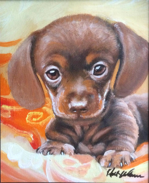 Wall Art - Painting - Puppy2 by Robert Korhonen