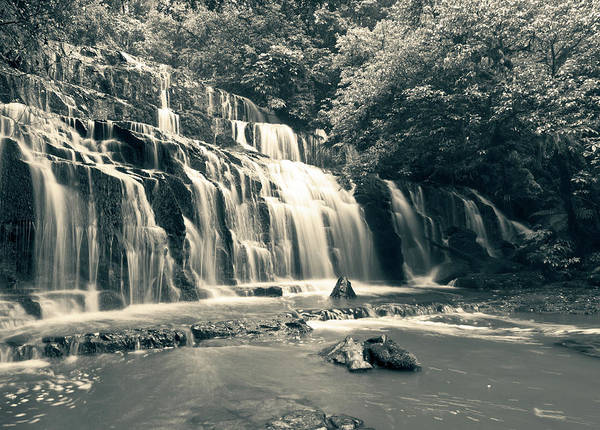 Photograph - Purakanui Falls New Zealand by U Schade