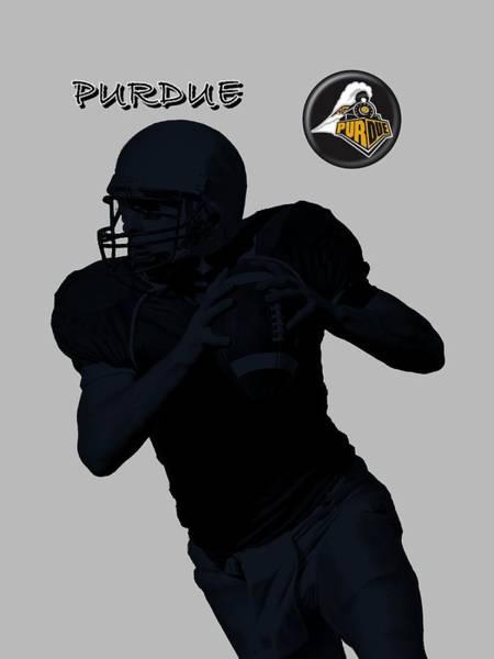 Digital Art - Purdue Football by David Dehner