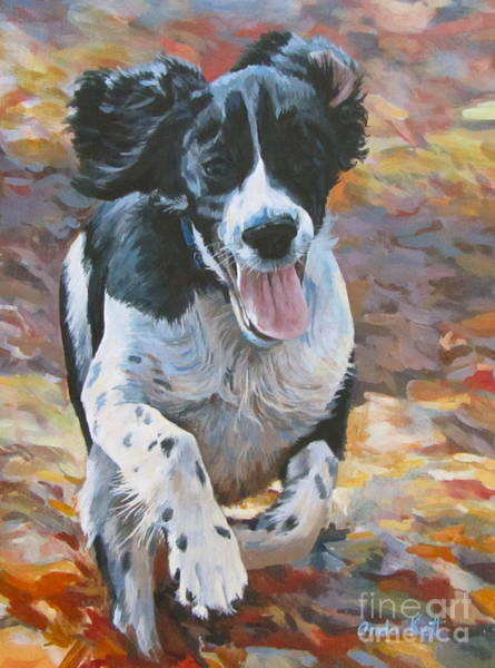 Springer Spaniel Painting - Pure Fun by Anda Kett