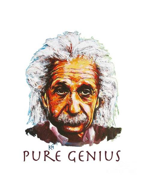 Painting - Pure Genius - Einstein by Konni Jensen