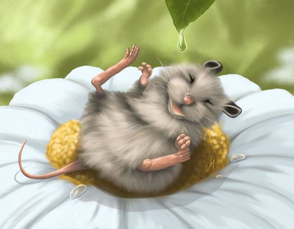 Mouse Painting - Pure Happiness by Veronica Minozzi
