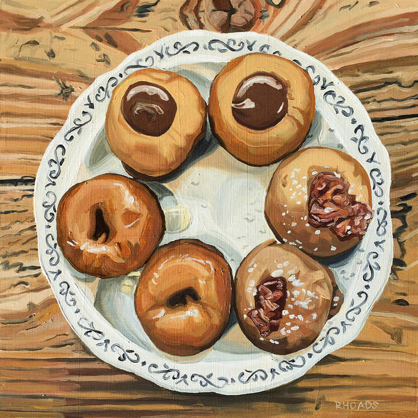 Doughnut Painting - Pure Heaven by Nathan Rhoads