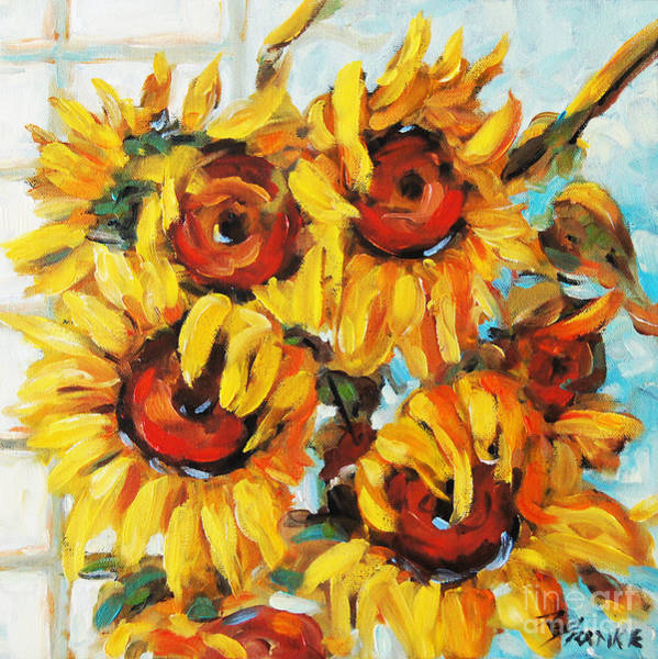 Floral Shower Curtain Painting - Pure Sunshine By Prankearts by Richard T Pranke