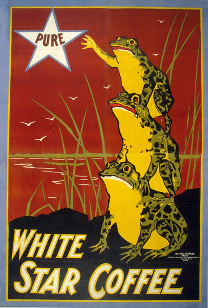 Product Mixed Media - Pure White Star Coffee - Vintage Advertising Poster by Studio Grafiikka