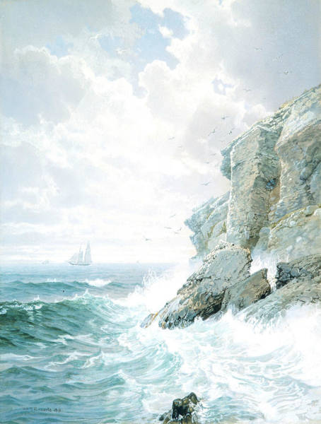 Wall Art - Painting - Purgatory Cliff by William Trost Richards