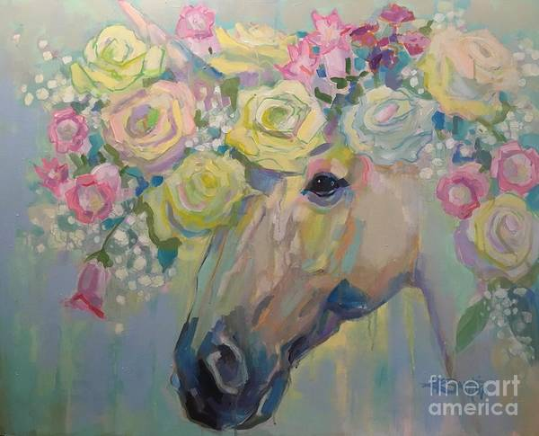 Fantasy Horse Wall Art - Painting - Purity by Kimberly Santini
