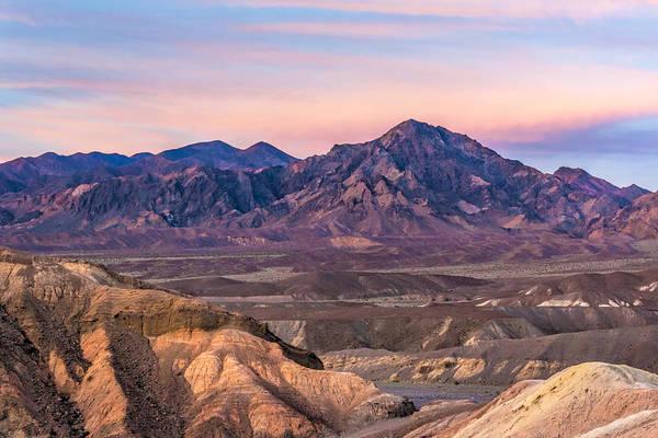 Photograph - Purlpleish Desert Mountains by Rick Wicker