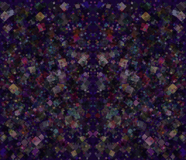 Digital Art - Purple Abstracted Geometry by Bert Ernie
