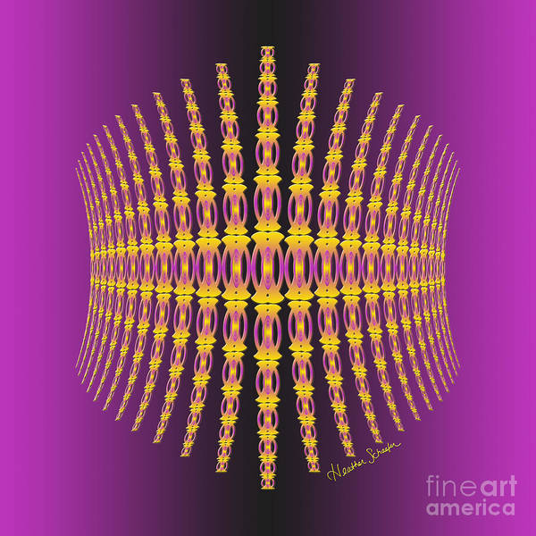 Digital Art - Purple And Gold Crown by Heather Schaefer
