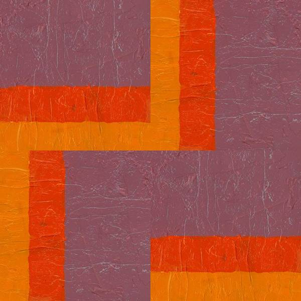Painting - Purple And Orange Square Study by Michelle Calkins
