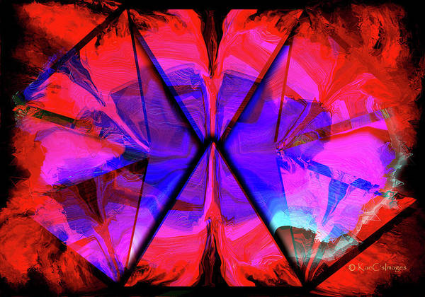Digital Art - Purple And Red In Tri-sides by Kae Cheatham