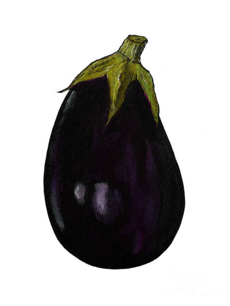 Wall Art - Painting - Purple Aubergine by Sarah Thompson-Engels
