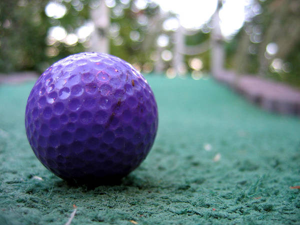 Photograph - Purple Ball by Laura Kinker