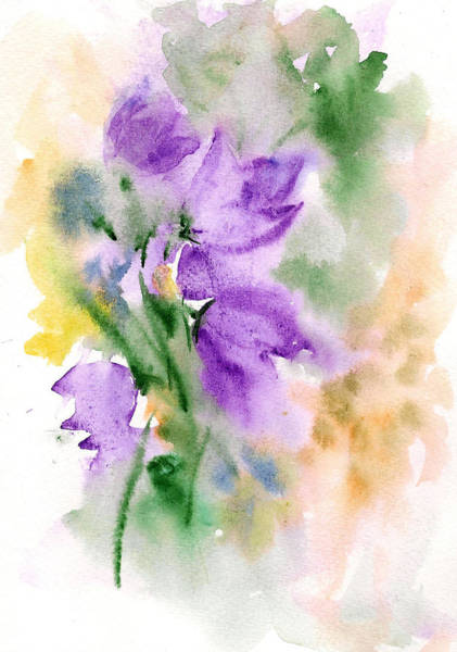Painting - Purple Bells by Asha Sudhaker Shenoy