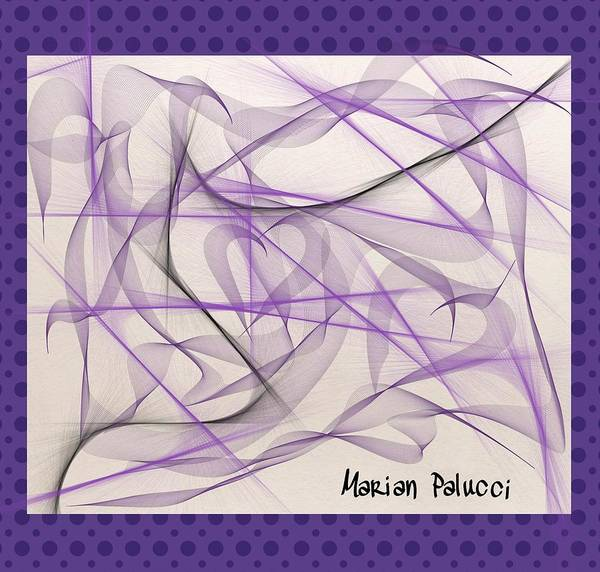 Mixed Media - Purple Bliss by Marian Palucci-Lonzetta