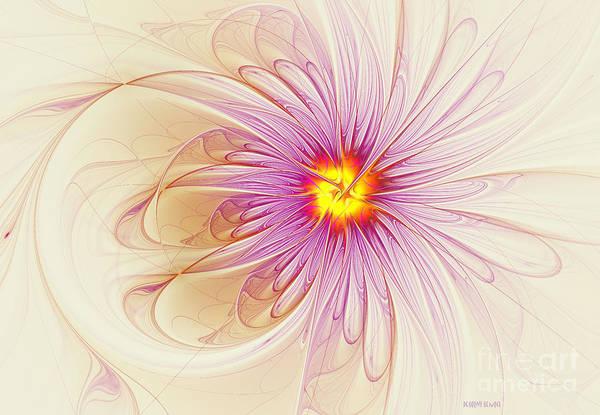 Digital Art - Purple Blossom by Deborah Benoit