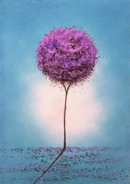 Blooming Tree Painting - Purple Blossom by Rachel Bingaman