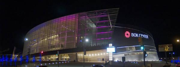Christmass Photograph - Purple - Bok Center by William Lea