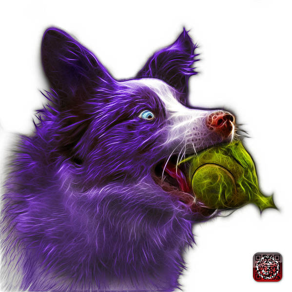 Painting - Purple Border Collie - Elska -  9847 - Wb by James Ahn