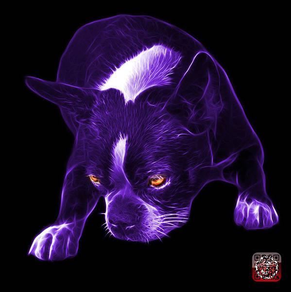 Mixed Media - Purple Boston Terrier Art - 8384 - Bb by James Ahn
