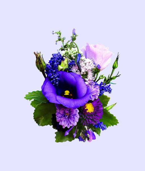 Photograph - Purple Bouquet With Lilies And Delphinium by Susan Savad