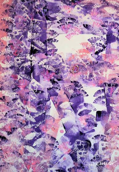 Painting - Purple Brush-up by Jean Clarke