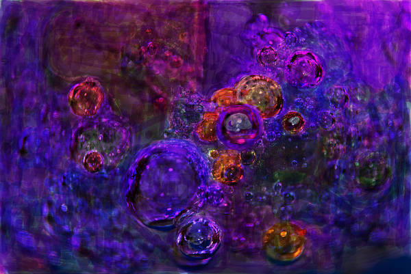Southern Charm Digital Art - Purple Bubbles Painting by Don  Wright