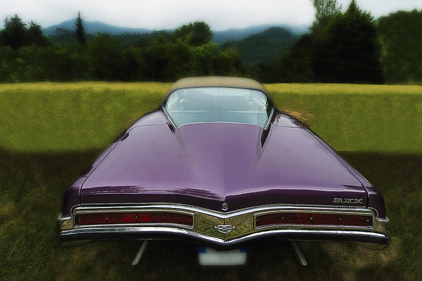 Photograph - Purple Buick Vintage Car by Enrico Pelos