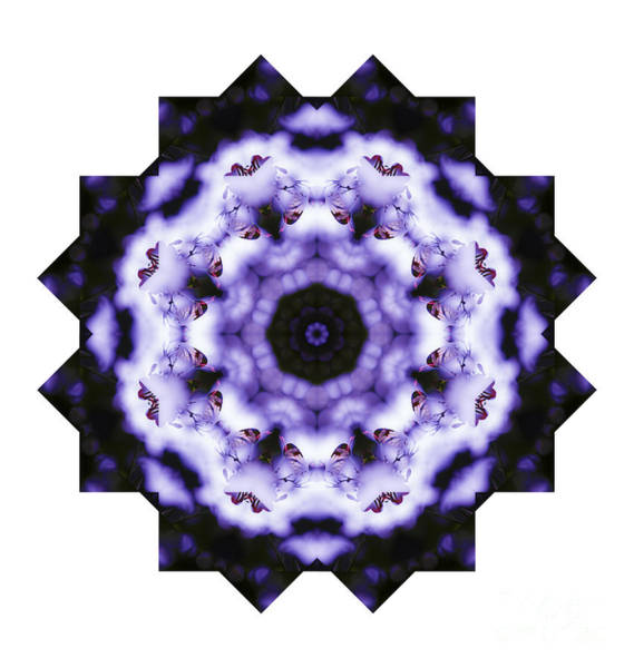 Digital Art - Purple Butterfly Mandala by Tracey Everington