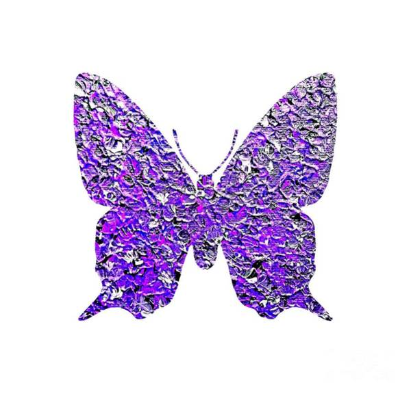 Painting - Purple Butterfly  by Rachel Hannah